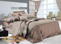 Полуторный комплект постельного белья 150*220 сатин (8142) TM KRISPOL Україна