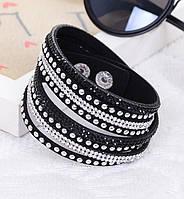 Черный стильный браслет tb1292