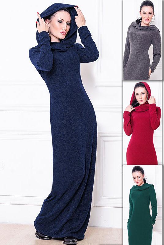 9d0cbf1bc13 Длинное теплое платье с капюшоном Батал - M A Y K A S H O P . com в Киеве