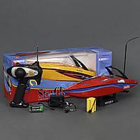 Катер на пульте 2 цвета, р/у, аккум. батарея, в коробке