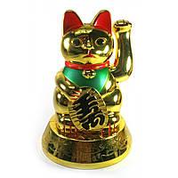 Кошка Манэки-нэко машущая лапой (батарейки в комплект не входят)(16,5х11,5х11,5 см)