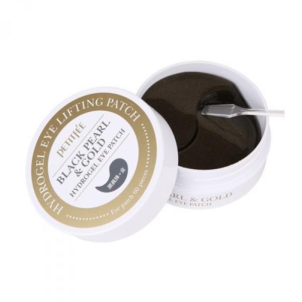 Petitfee Black Pearl & Gold Hydrogel Eye Patch Патчи с черным жемчугом и золотом
