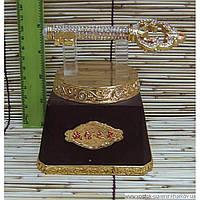 Ключ золотой на подставке (12х10х12 см)
