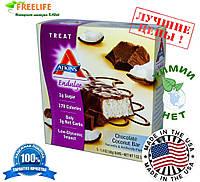 Atkins, Вкусные шоколадно-кокосовые батончики, 5 батончиков, 1.41 унц. (40 г) каждый