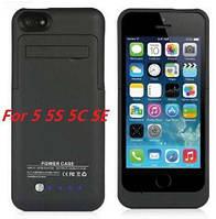 Чехол резервная батарея для Iphone 5, 5s, SE акб бампер power case