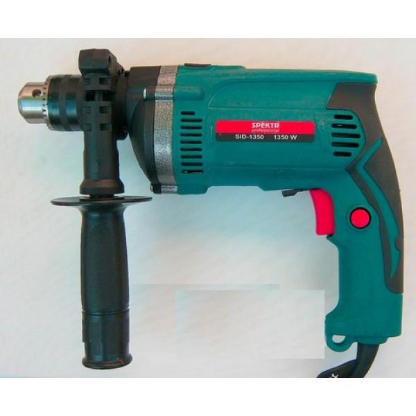 Дрель электрическая ударная Spektr SID-1350 professional