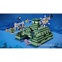 Конструктор Lepin 18029 Подводная крепость (аналог Lego Майнкрафт, Minecraft 21136)