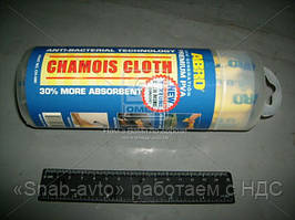 Салфетка замшевая ABRO премиум small 43х32см (арт. CH-550-R), AAHZX