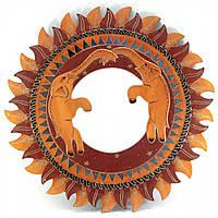 """Зеркало мозаичное """"Слоны """" (d-50 cм)"""