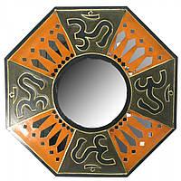 """Зеркало мозаичное """"ОМ"""" (d-50 cм)"""