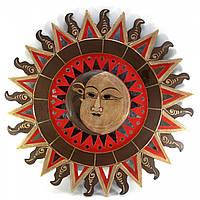 "Зеркало мозаичное ""Солнце и Луна "" (d-60 cм)"