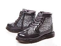 Демисезонные модные ботинки на девочку бренда Clibee Размер 33 серые