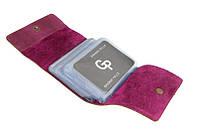 Визитница на 48 карт, матовый, розовый Grande Pelle. Арт. 312163