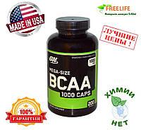 Optimum Nutrition, Mega-Size BCAA 1000, 1000 мг, 200 капсул, официальный сайт