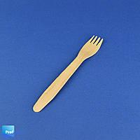 Вилка деревянная одноразовая, 165 мм, Pap Star, 100 шт/уп