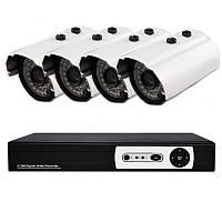 4-х канальная система домашнего видеонаблюдения (DVR KIT H.264 DIY 4 Channel)
