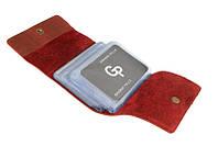 Визитница на 48 карт, матовый, красный Grande Pelle арт. 312160