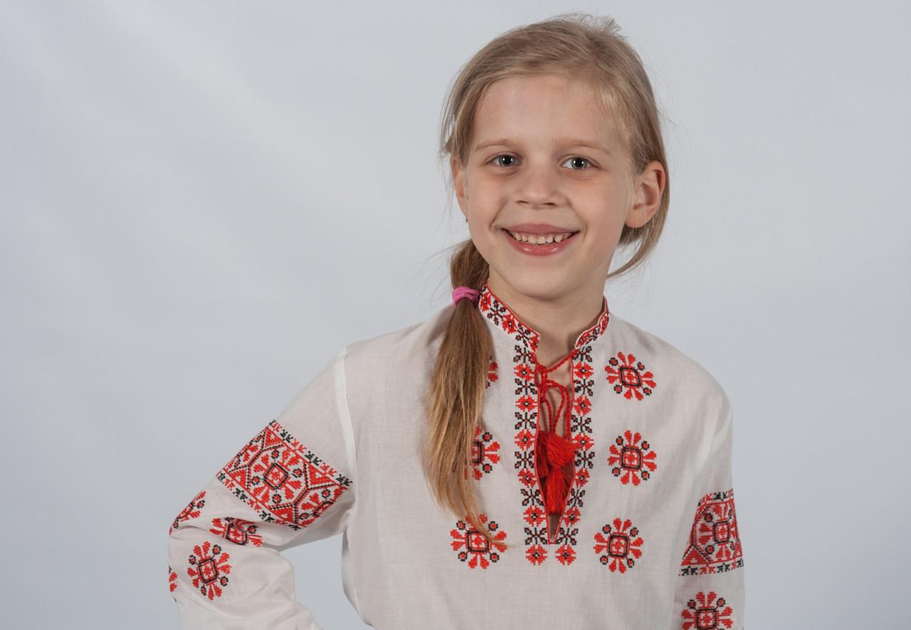Блуза дівоча Сонечко батист довгий рукав  продажа фабрика