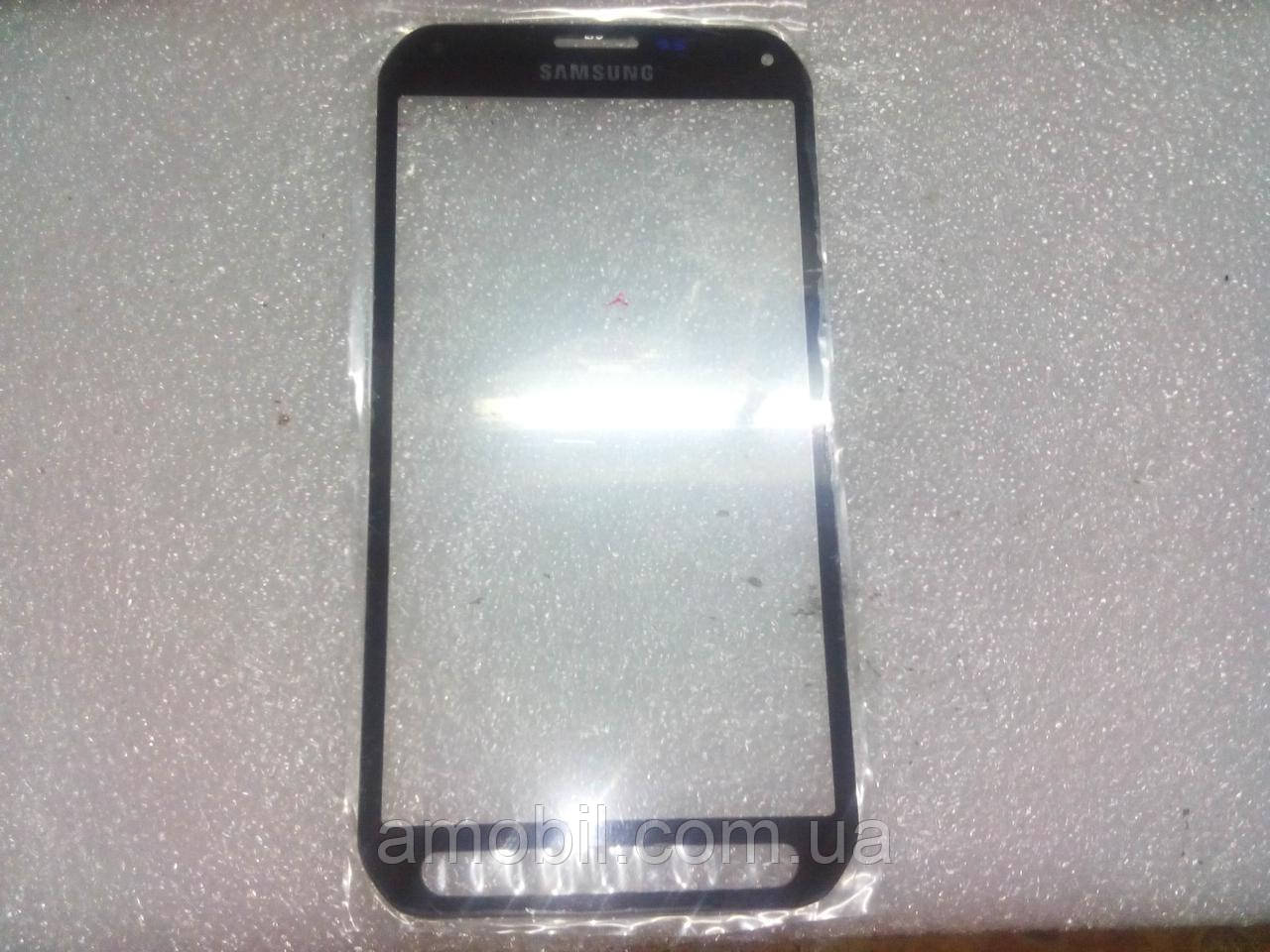 Стекло дисплея Samsung S5 Active  серое