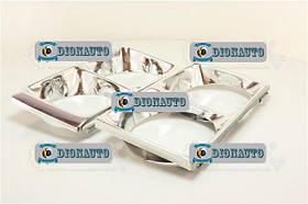 Облицовка фар 2106 хром комплект 2шт (очки) ВАЗ-2106 (2106-8401016)