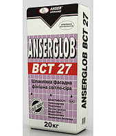 Anserglob ВСТ-27, шпатлевка фасадная финишная (светло-серая) 20кг