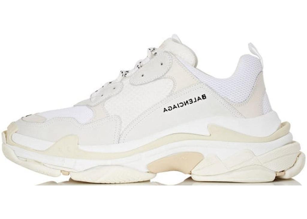 Кроссовки женские Balenciaga Triple S White баленсиага белые. ТОП Реплика ААА класса.