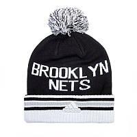 Sale Шапка Адидас с помпоном и отворотом Brooklyn Nets AC0943 - распродажа