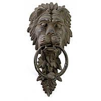 Ручка колотушка для входной двери Лев