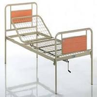 Функциональная кровать металлическая двухсекционная