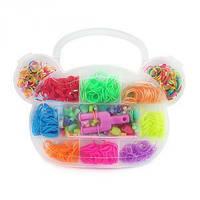 Резиночки для плетения Органайзер 500 шт Мишка