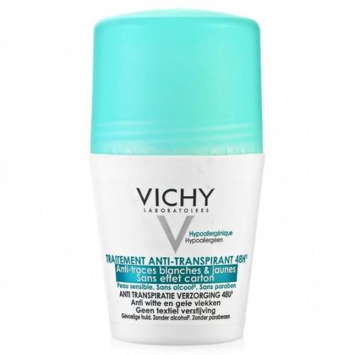 Дезодорант шариковый против белых и желтых пятен Traitement Anti-Transpirant 48H,Vichy