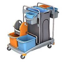 Тележка для уборки помещений, Два ведра: 6л., 20л, С мешком для мусора на 120л. TSS-0008