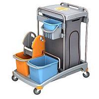 Тележка для уборки помещений, Два ведра: 6л., 20л, С мешком для мусора на 120л. TSS-0009