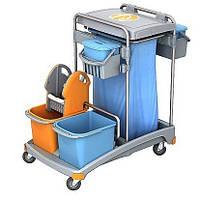 Тележка для уборки помещений, Два ведра: 6л., 20л, С мешком для мусора на 120л. TSS-0010