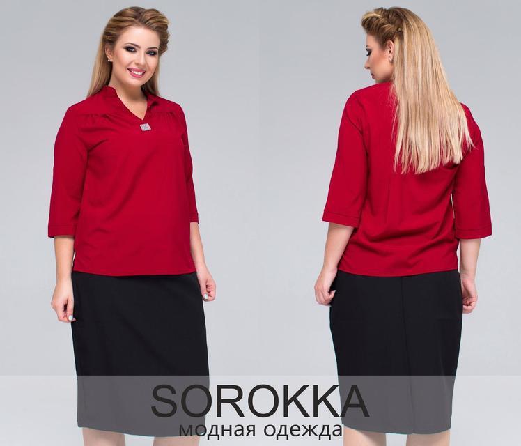 Женская блуза креп шифон Размер: 48-50,52-54