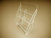 Настольная подставка для флаеров на 6 ячеек (Толщина акрила : 1,8 мм; ), фото 1