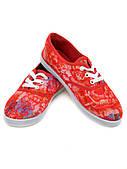Кеды 922 Flower-red
