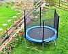Батут FunFit для детей 183 см. с сеткой и лесенкой