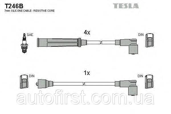 Комплект высоковольтных провод Tesla T246B Mazda