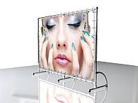 Пресс волл (Press wall, Brand wall) 2х3м, усиленный (Состав: Конструкция и полотно с печатью;  Сумка-чехол: Конструкция без сумки; Отверстие для лица: