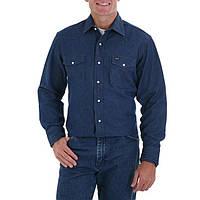 Рубашка Wrangler MS7 Cowboy Cut® Firm Finish Long Sleeve Work Western Shirt
