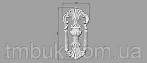 Вертикальный резной декор 37 - 150х300 мм, фото 2