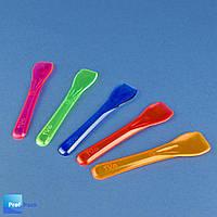 Одноразовая ложка для мороженого пластиковая, ассорти, 100 шт/уп