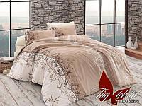 Комплект постельного белья R2034 kahve семейный (TAG(sem)-453)