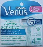 Лезвия для бритья Gillette Venus Embrace Sensitive, 4 штуки в упаковке, из США