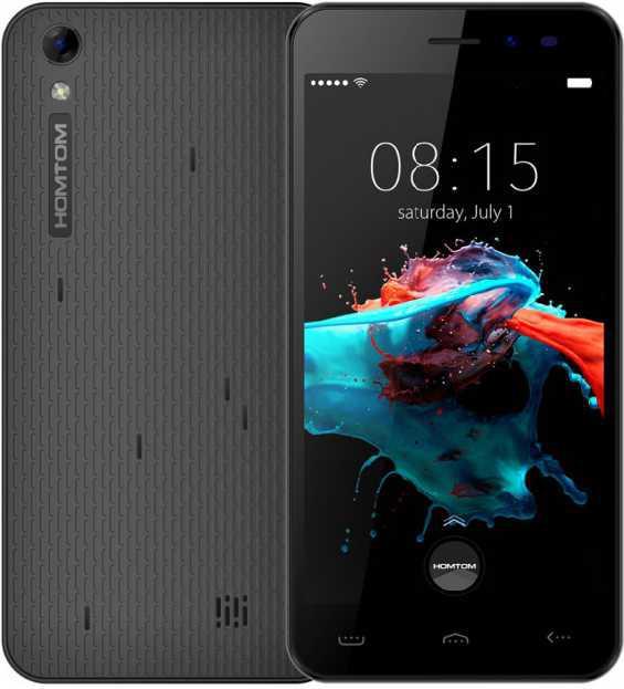 Смартфон 5 дюймов на 2 сим карты 4 ядра 1/8Gb Doogee Homtom HT16 чёрный