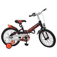 Велосипед детский двухколесный Original W16115-4 Profi, 16 д. черный