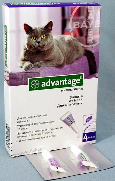 Капли Адвантейдж 80 коты от 4 кг 1шт