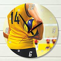"""Настенные часы - """"Волейбол"""" (на пластике)"""