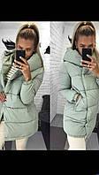 """Женская зимняя куртка с карманами и капюшоном на змейке и кнопках """"Аляска"""""""